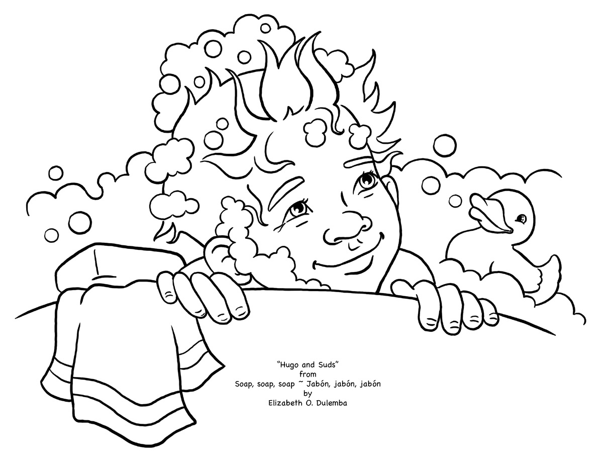 coloring page tuesday soapy hugo
