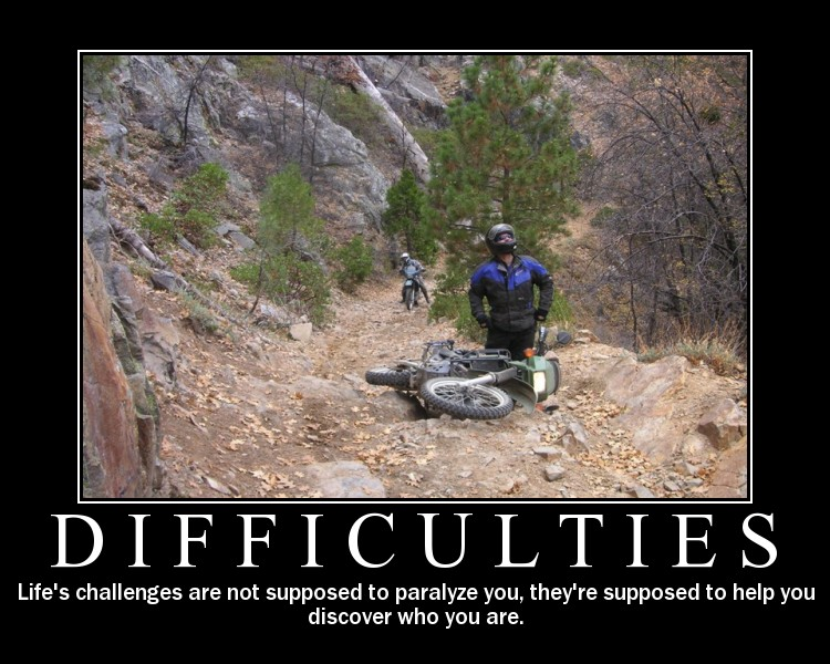 dulemba: More Motorcycle Logic - Difficulties