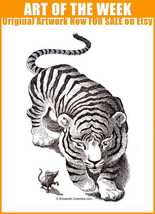 Buy the Original on Etsy: Tiger and Mouse!