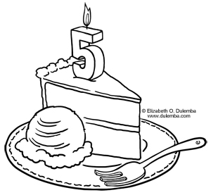 dulemba: Coloring Page Tuesday - 5 YEAR\'S OLD CELEBRATION!