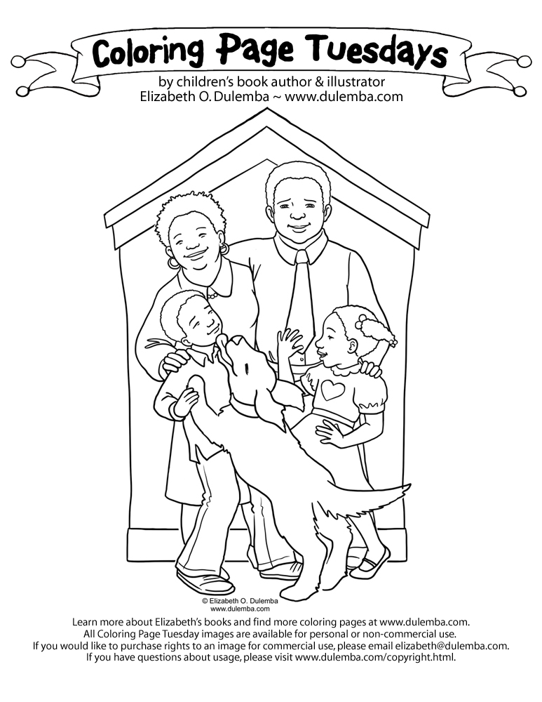 coloring page tuesday more family