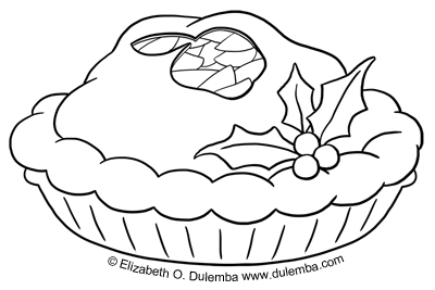 coloring page tuesday apple pie for you