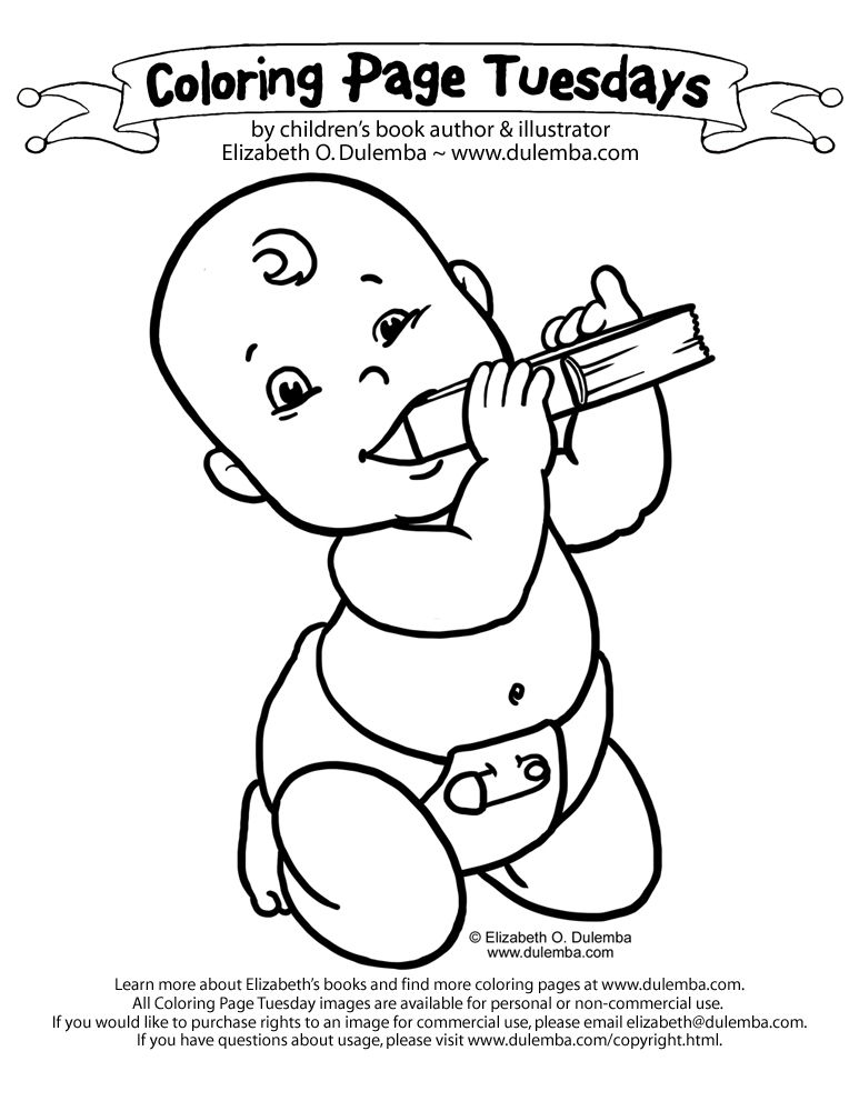 dulemba coloring page tuesday book baby