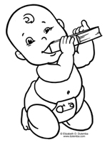 Coloring Page Tuesday - Book Baby!