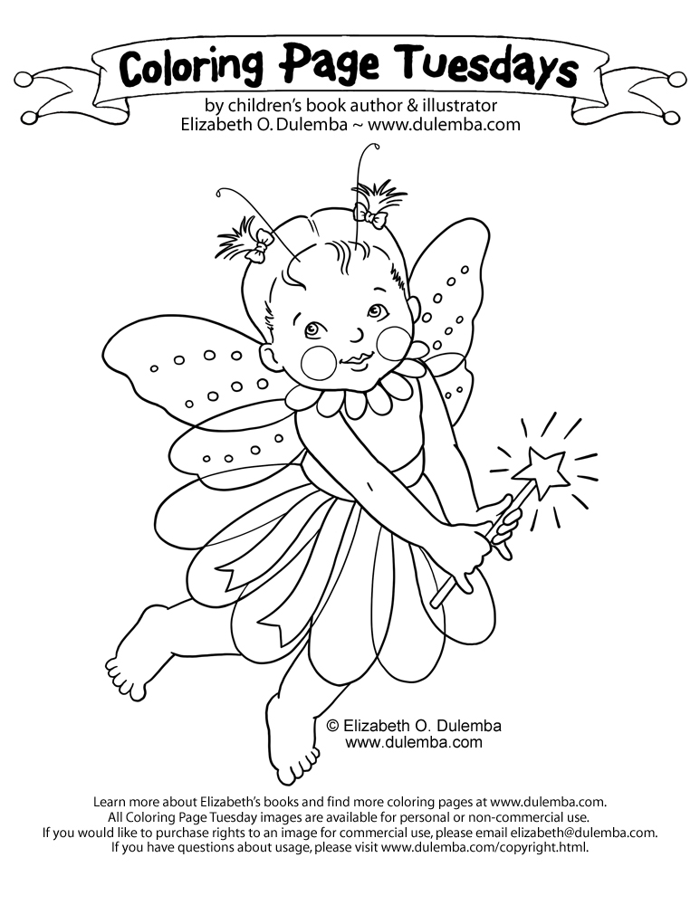 dulemba: Coloring Page Tuesday - Baby Fairy