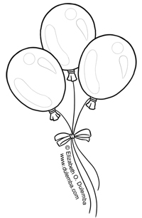 dulemba: Coloring Page Tuesday - Balloons!