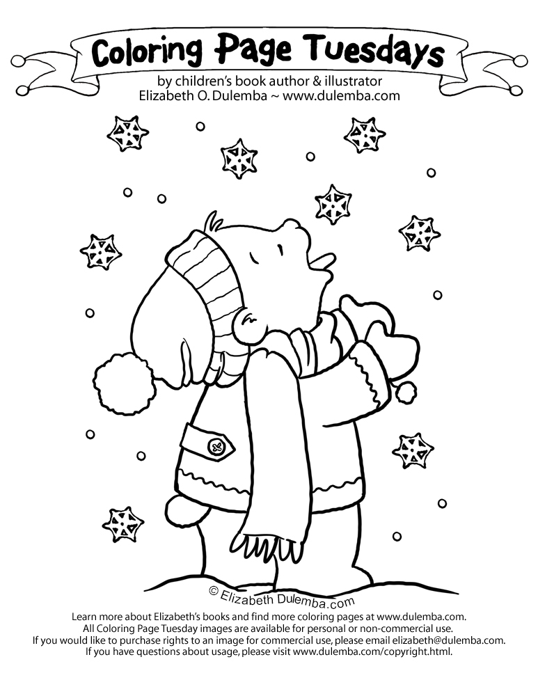 snow day coloring pages.html