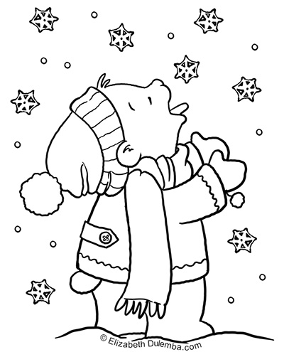 snowing coloring pages dulemba: Coloring Page Tuesday   SNOW! snowing coloring pages