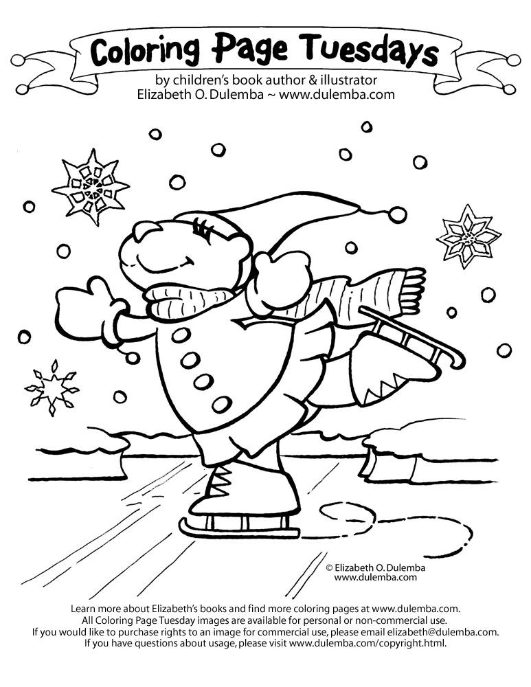 Coloring Page Tuesday - Skating Bear