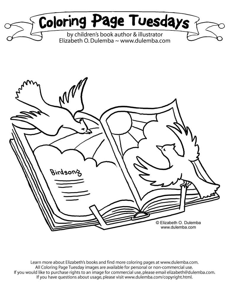 Coloring Page Tuesday - Birdsong