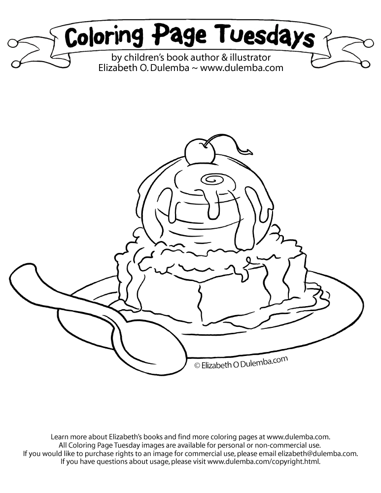 chocolate brownie coloring pages - photo#12