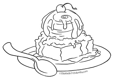 brownie coloring pages dulemba: Coloring Page Tuesday   Birthday Brownie! brownie coloring pages