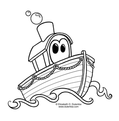 sometimes its the simplest images that make us happy i just really wanted to draw a boat toot toot click the image to open a jpg to print and color
