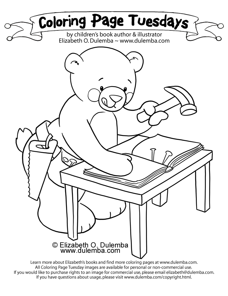 coloring page tuesday book making bear - Chrysanthemum Book Coloring Pages
