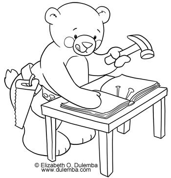dulemba Coloring Page Tuesday  Book Making Bear