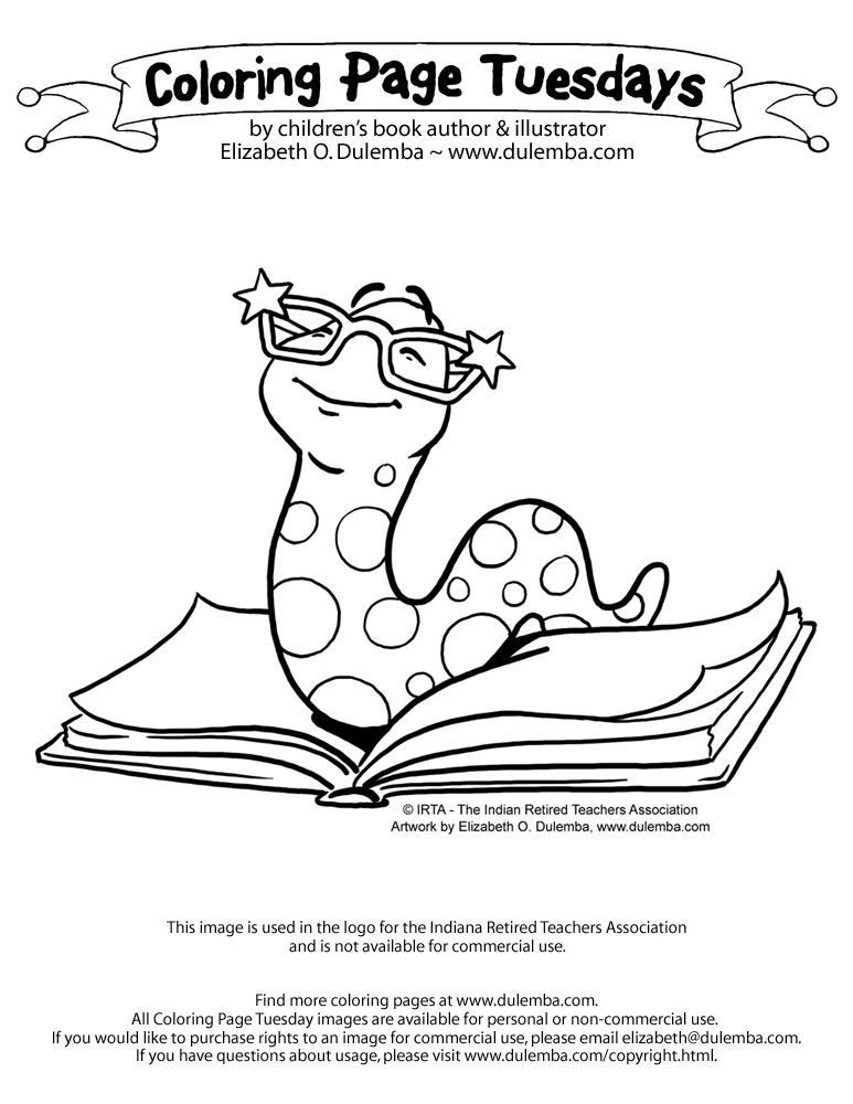 worm coloring pages.html