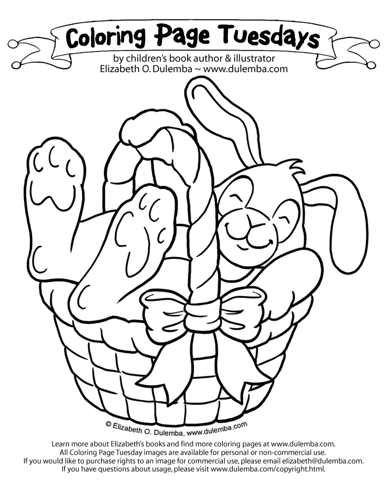 eggs! Silly bunny. CLICK HERE for more Easter Coloring Pages title=