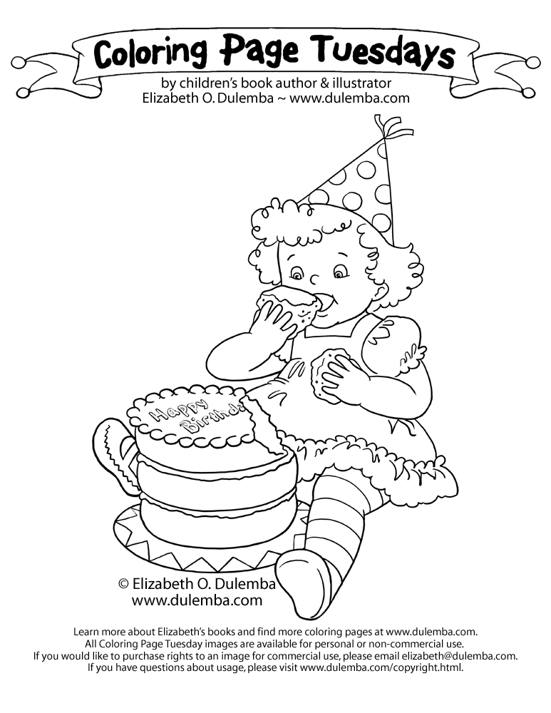 dulemba: Coloring Page Tuesday - Feasting on Cake!