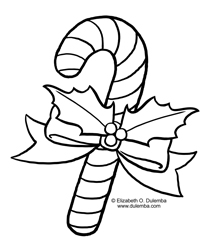 Dulemba Coloring Page Tuesday Candy Cane