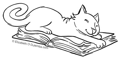 What Do You Suppose This Curious Cat Is Reading Looks Like Hes Up To Something Me I Havent Done A Coloring Page For In While