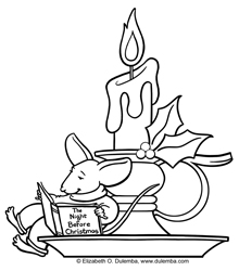 dulemba Coloring Page Tuesday  Christmas Candle