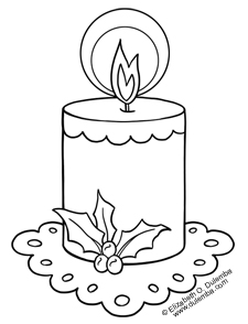 Candle Coloring Page