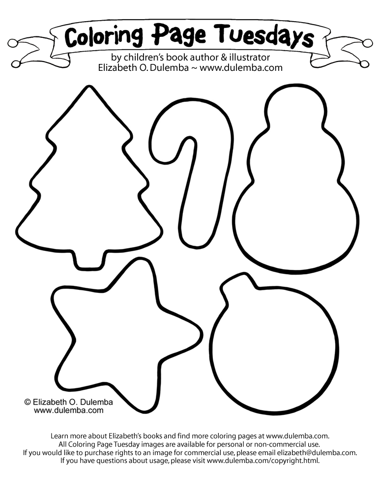 coloring page tuesday christmas cookies