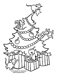 dulemba coloring page tuesday christmas mice