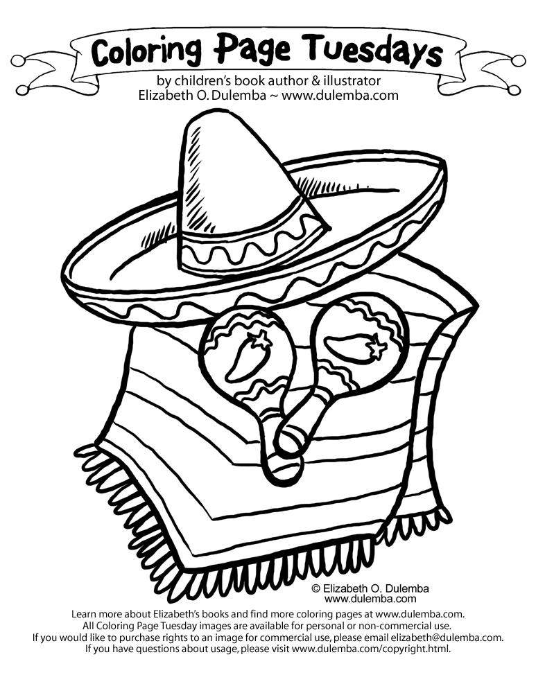 dulemba: Coloring Page Tuesday - Latino Book Month!