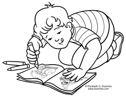 Dulemba Coloring Page Tuesday Color
