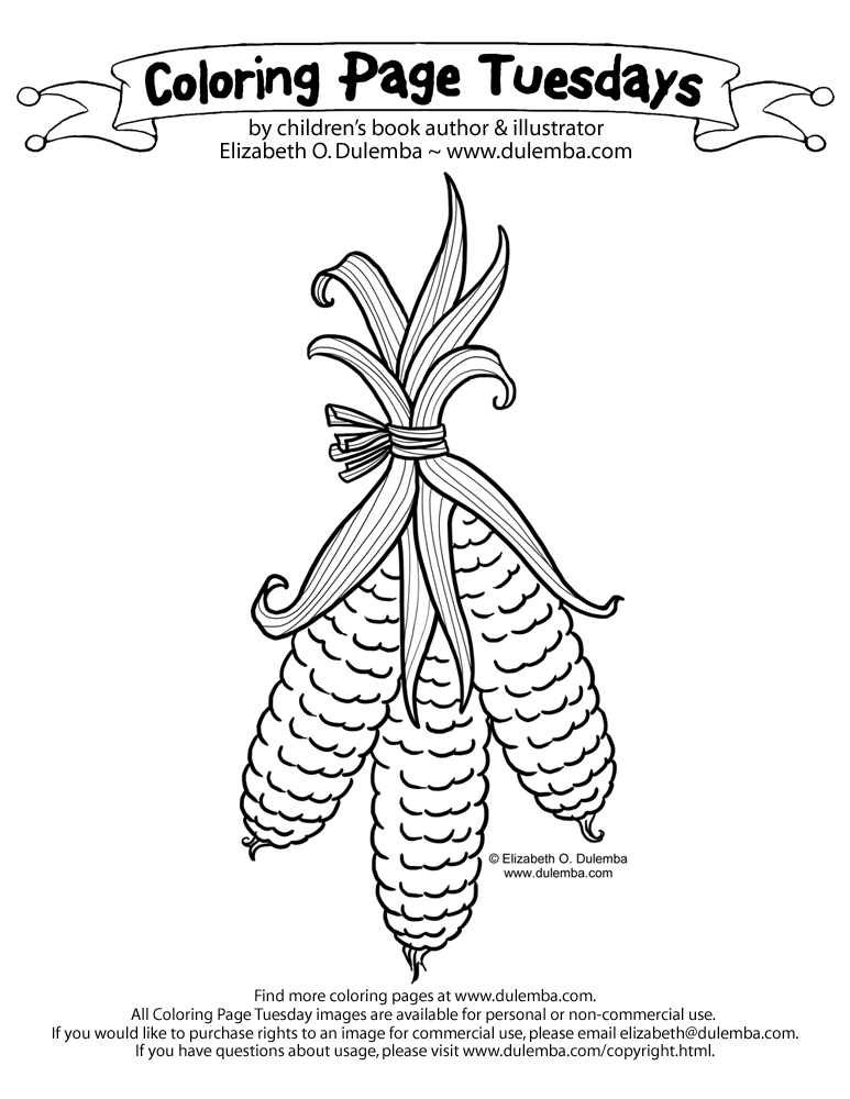 Harvest Corn Coloring Page How Many of You Put Harvest