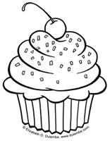 Cupcake Coloring Sheets