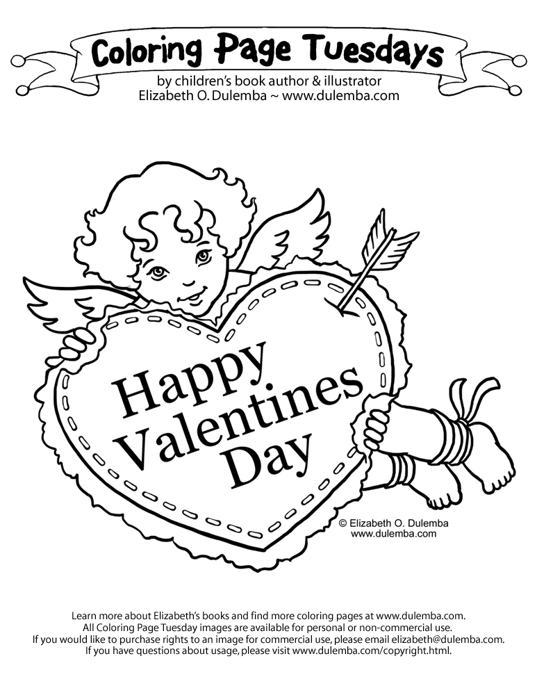 Valentine Day Printable Coloring Pages