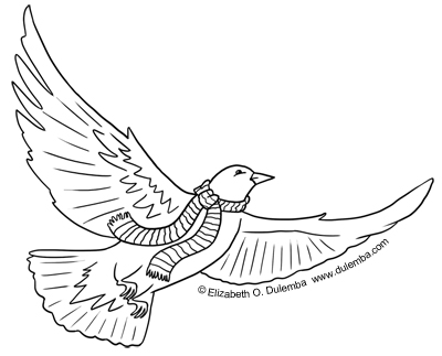 dulemba: Coloring Page Tuesday - Winter Dove