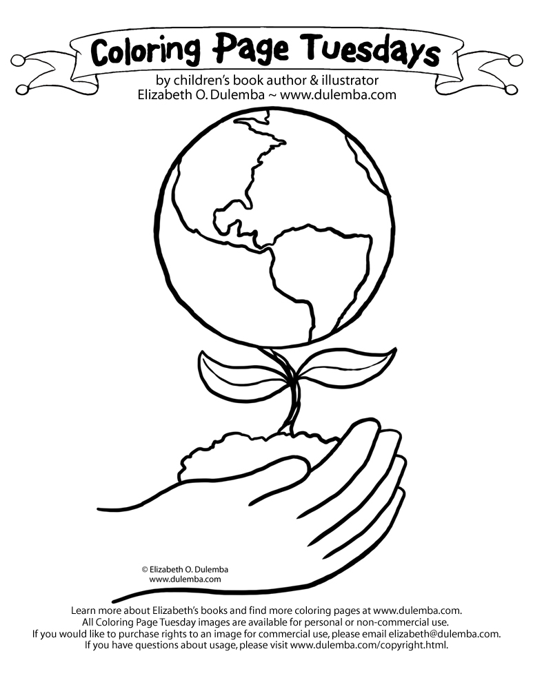 Earth Day Printable Coloring Pages Free Print Of The Week The ...