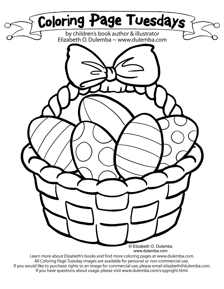 jellybeans eggs chocolate bunnies i hope you find your favorites in your easter basket this year click here for more easter images to color - Easter Basket Coloring Pages
