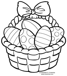 dulemba: Coloring Page Tuesday - Easter Basket
