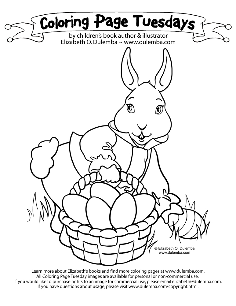 dulemba: Coloring Page Tuesday - Easter Bunny