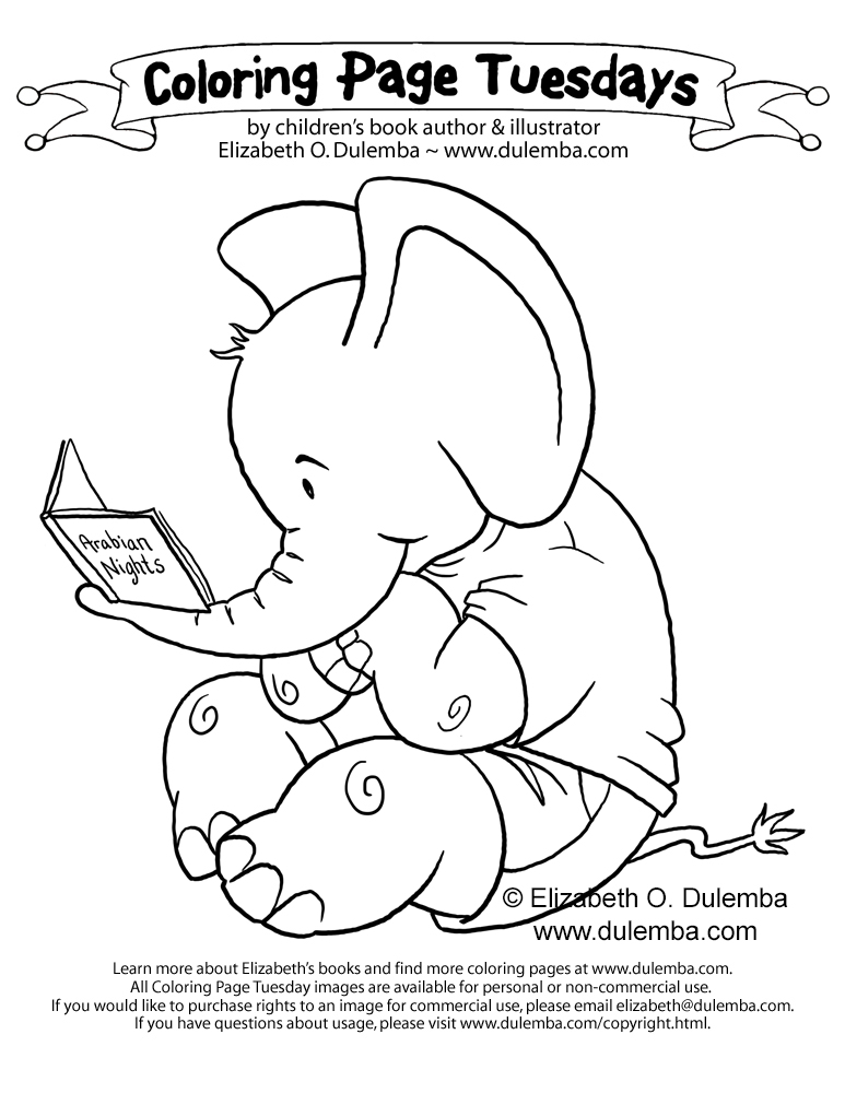 dulemba: Coloring Page Tuesday - E is for Elephant!