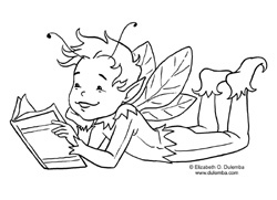 Many Of You Have Said Love My Reading Fairy Image But Wish There Was A Boy Counterpart Well Here He Is Because Boys To Read Too