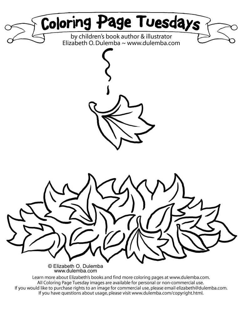 dulemba: Coloring Page Tuesday - Falling Leaf