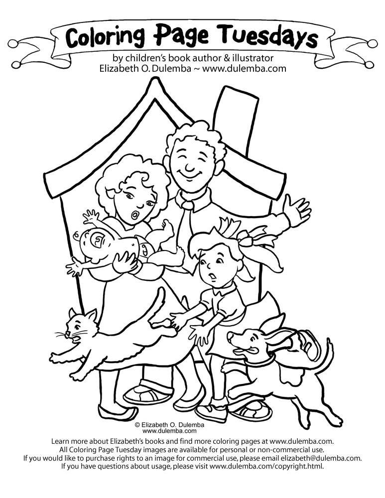 Family Coloring Sheet Coloring Page a Family