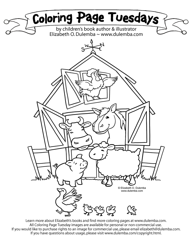 Red Barn Coloring Page http://printablecolouringpages.co.uk/?s=Big%20Barn%20Farm