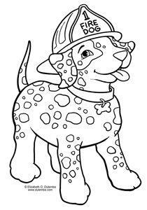 dulemba Coloring Page Tuesday Fire Dog