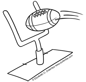 dulemba coloring page tuesday football