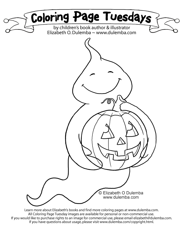 coloring pages pumpkins and ghosts - photo#20