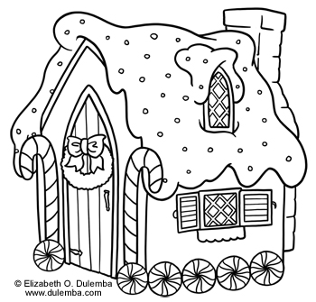 dulemba Coloring Page Tuesday Gingerbread House