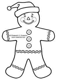 Coloring Page Tuesday - Gingerbread Man!