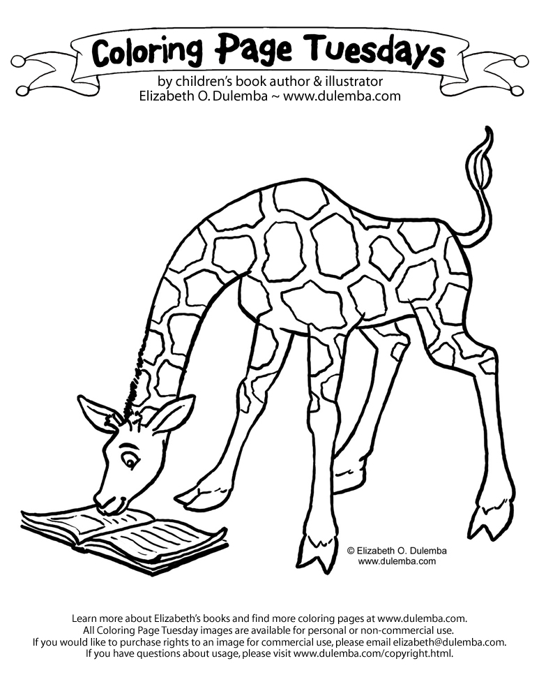 coloring page of a giraffe.html