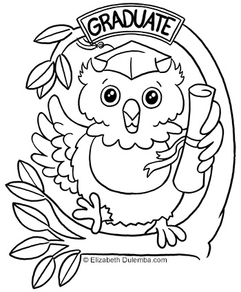 dulemba coloring page tuesdays congratulations graduates - Graduation Coloring Pages